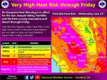 National Weather Service Says Very High Heat Risk Through Friday, June 23, 2017