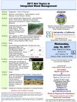 Register Now for Hot Topics in Integrated Weed Management Workshop in Mariposa County on July 19, 2017