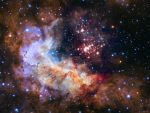 NASA Unveils Celestial Fireworks as Official Image for Hubble 25th Anniversary