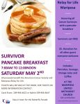 Mariposa Relay for Life to Host a Pancake Breakfast Fundraiser on May 2, 2015