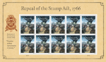 New Forever Stamp Souvenir Sheet Marks 250th Anniversary of the Repeal of the Stamp Act
