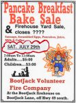 Bootjack Volunteer Fire Company Host Annual Pancake Breakfast & Yard Sale on Saturday, July 29, 2017