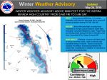 Winter Weather Advisory For Late Season Snow Is In Effect For The Sierra Nevada High Country Above 8,000 Feet From Yosemite To Kings Canyon National Parks