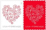 USPS Says Love Forever Heart Stamps are Great for Expressing Valentine's Day Wishes