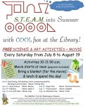 S.T.E.A.M. into Summer with Cool Fun at the Mariposa Library Every Saturday from July 8 to August 19, 2017