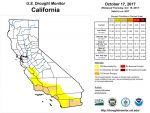 California and National Drought Summary for October 17, 2017