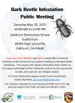 Bark Beetle Infestation Meeting in Oakhurst on Saturday, May 30, 2015