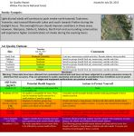 Willow Fire Tuesday Air Quality Report for the Foothills Including Mariposa, North Fork, Oakhurst and Yosemite