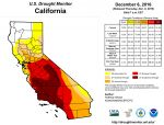 California and National Drought Summary for December 6, 2016