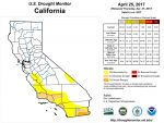 California and National Drought Summary for April 25, 2017