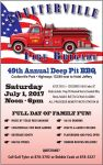 Don't Miss the 49th Annual Coulterville Fire Brigade Deep Pit BBQ on Saturday, July 1, 2017