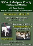 Mariposa SPCA to Host Annual Meeting with Animal Control Officer Staci Benedetti on Wednesday, March 21, 2018