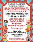 March Madness Spring Fling Carnival to be Held at New Life Christian Fellowship on Saturday, March 24, 2018