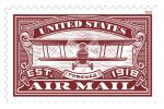Red United States Air Mail Stamp Continues the Flight, Postal Service Says