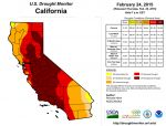 California Drought Monitor for February 24, 2015 Finds Exceptional Drought Areas Decrease Slightly