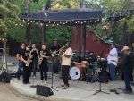 MCHS Grizzly Band Members Play with The Soul Galaxy at the Mariposa Art's Park
