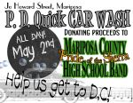 Mariposa County High School Grizzly Band to Hold a 'Wash Your Car' Fundraiser on May 2, 2015