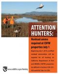 California Department of Fish and Wildlife Announces Nonlead Ammunition Requirement is Upon Us, No Lead Ammo on CDFW Lands Starting July 1