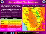 Heat Advisory Continues Through Sunday Evening, June 25, 2017 for Mariposa and Oakhurst