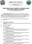 Mariposa County Board of Supervisors Special Meeting Agenda for Tuesday, May 31, 2016