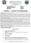 Mariposa County Board of Supervisors Meeting Agenda for Tuesday, October 18, 2016