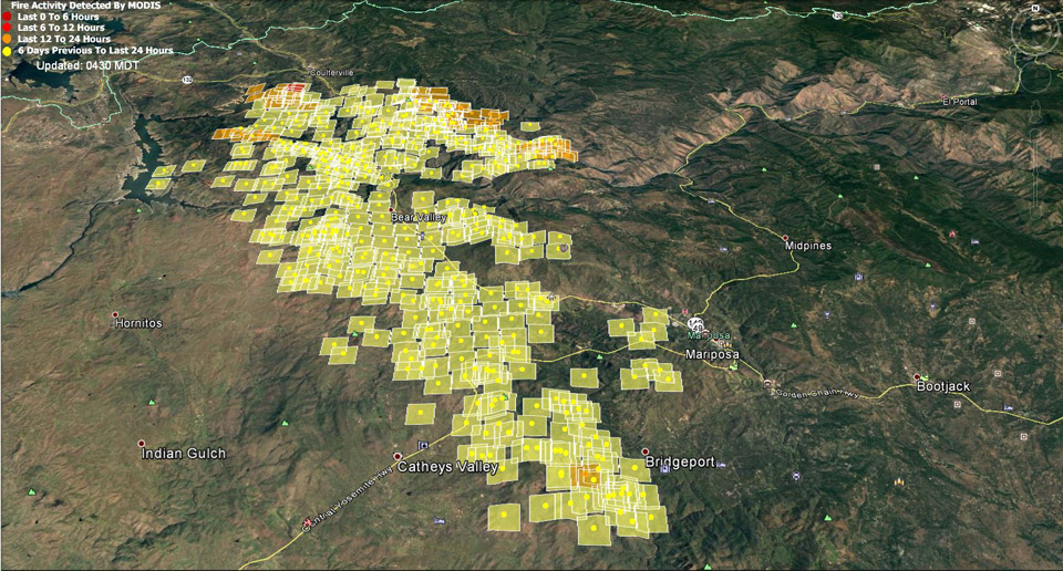Updates On Detwiler Wildfire In Mariposa County For Friday July 21