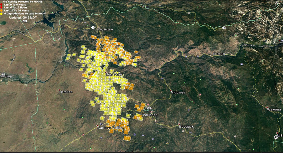 Updates On Detwiler Wildfire In Mariposa County For Thursday July