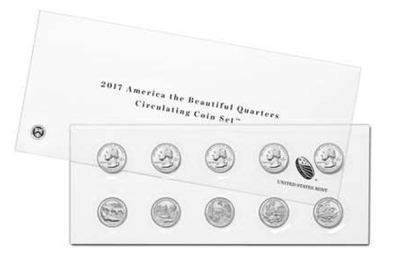2017 america the beautiful quarters circulating coin set