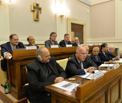 california Governor Brown delivers remarks at Vatican symposium on climate change credit Pontifical Academy of Sciences