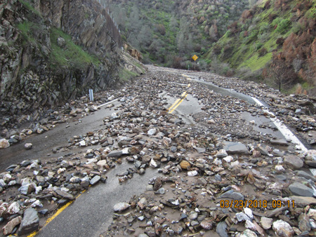 caltrans district 10 mariposa county highway 49 rocks on road credit caltrans