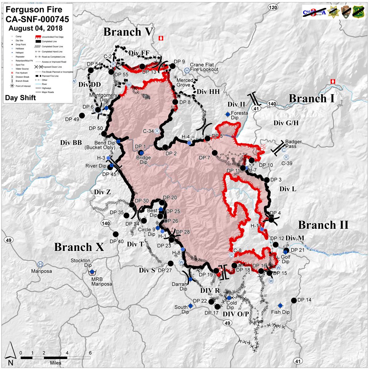 Ferguson Fire Near Yosemite National Park in Mariposa County ...