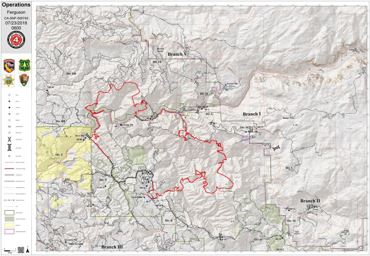 Fire Map Yosemite.Ferguson Fire Near Yosemite National Park In Mariposa County Monday
