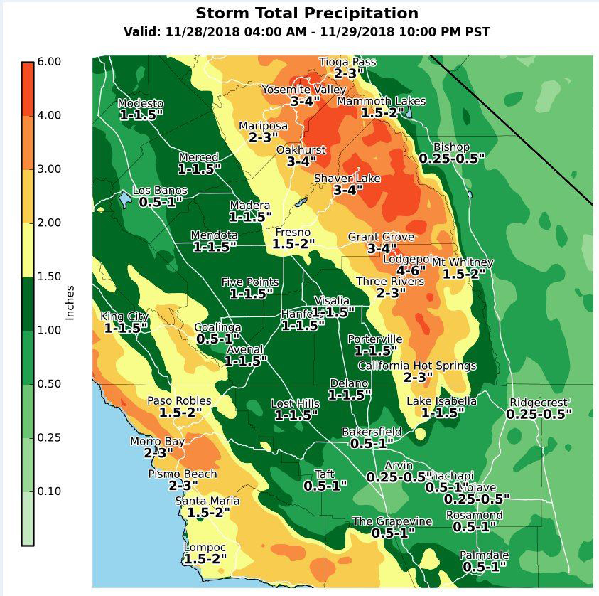 """National Weather Service Reports 2 00"""" to 3 00"""" of Rainfall"""