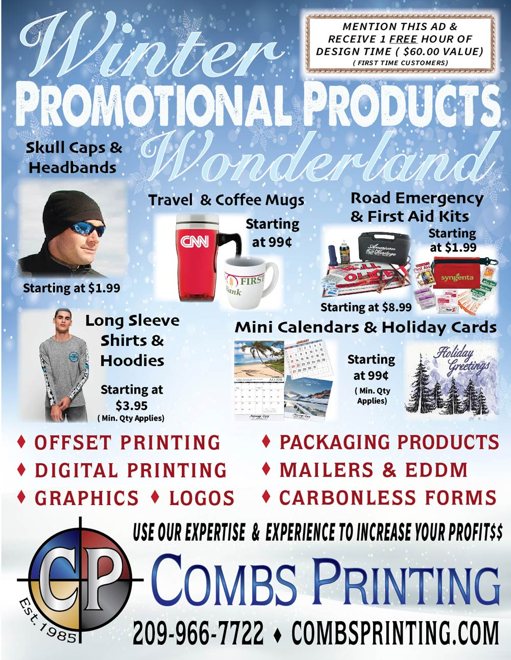 Combs Printing flyer
