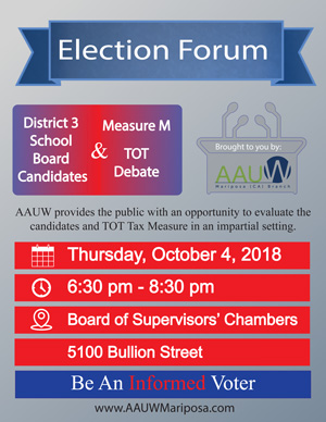 10 4 18 AAUW Election Forum ad