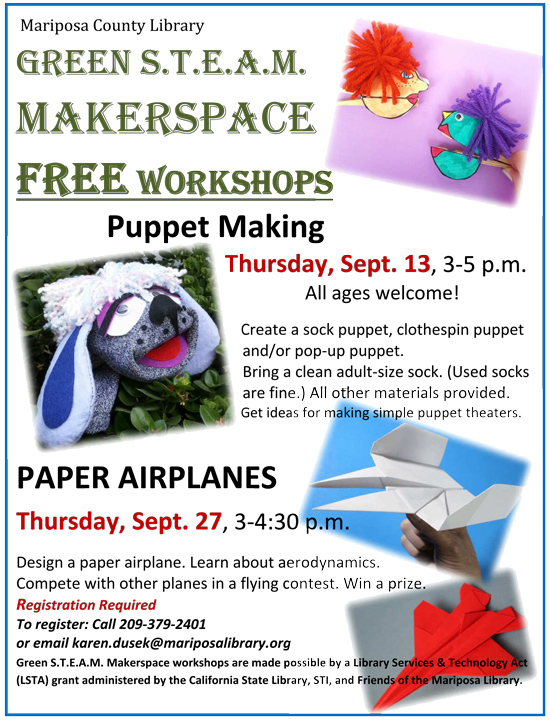 9 13 18 puppet and airplane wkshp sm