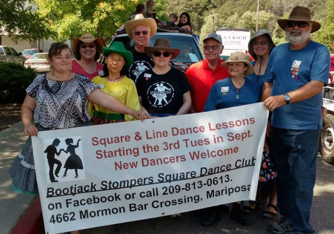 Bootjack stompers at Mariposa fair parade 2018