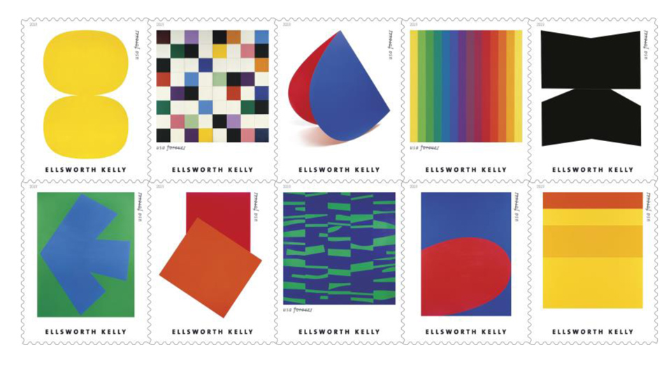 usps 0425 usps honors ellsworth kelly with stamps 1