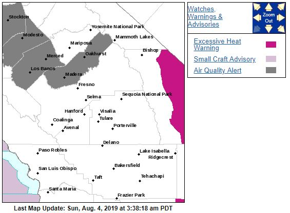 Air Quality Alert Issued for Madera, Merced, San Joaquin