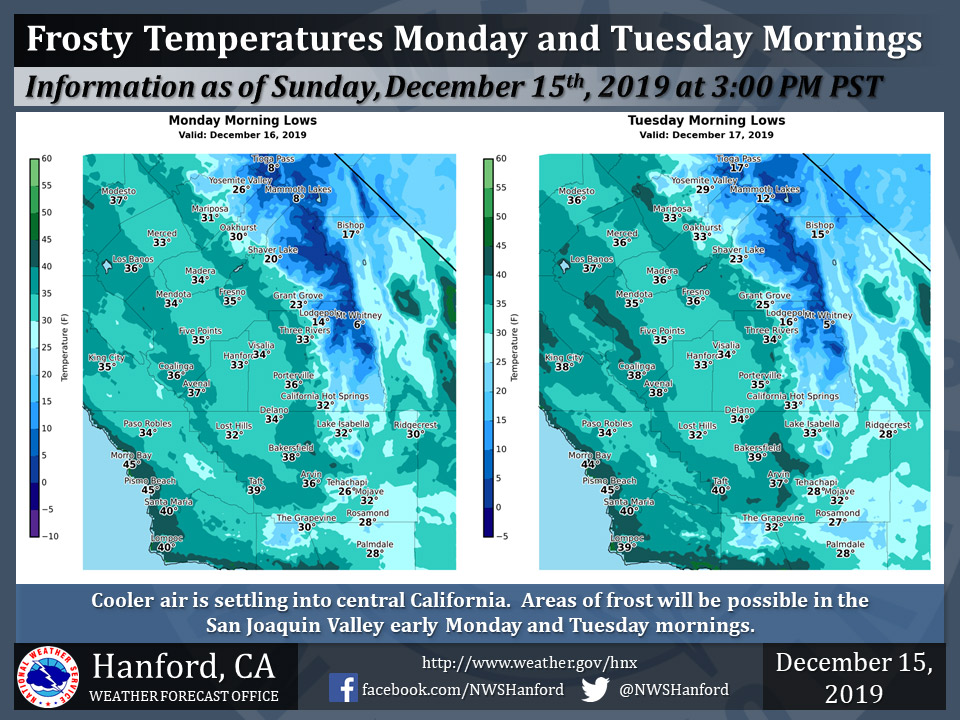 Weather Service Says Frosty Morning Temperatures for ...