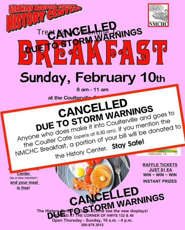 2 10 19 NMCHC Breakfast canceled