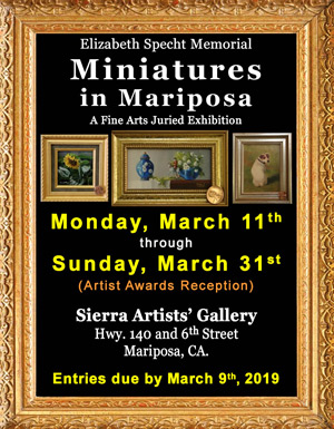 2019 Miniatures in Mariposa ad