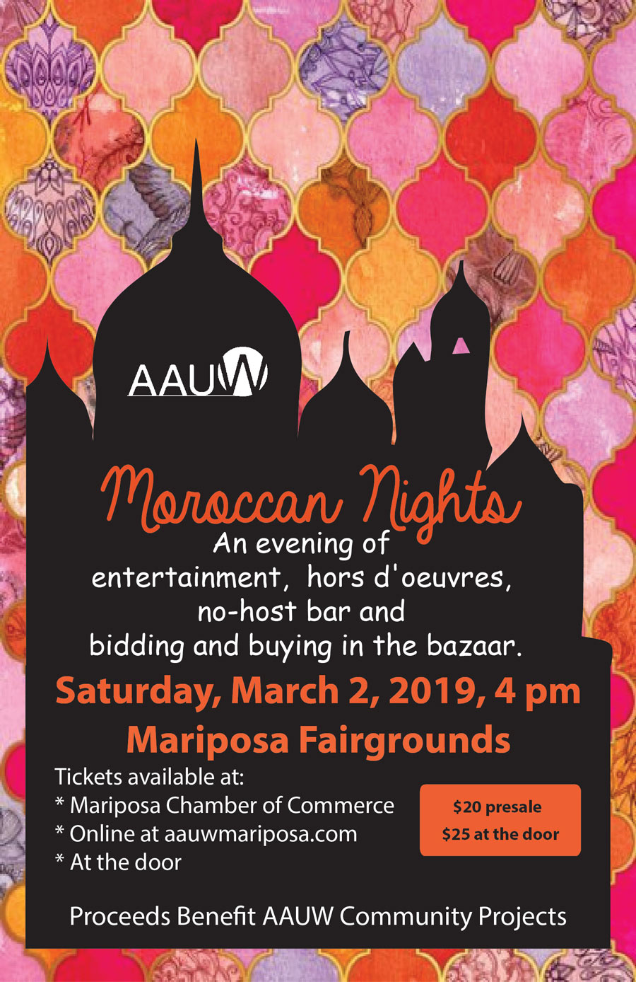 3 2 19 AAUW Moroccan Nights