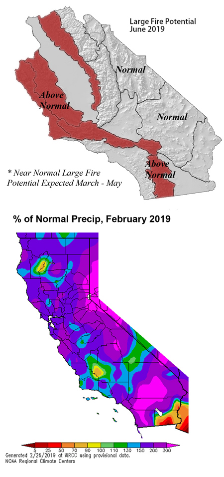 March 2019 To June 2019 Fuels, Fire and Weather Assessment For