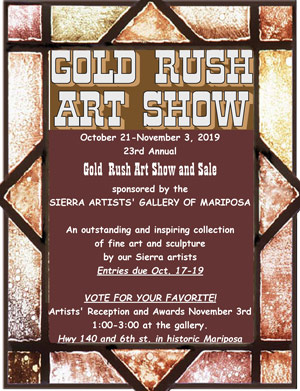 2019 Gold Rush Art Show ad