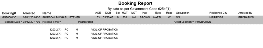mariposa county booking report for february 12 2020