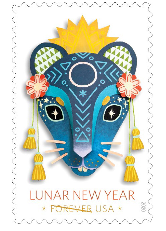 usps commemorates lunar new year with year of the rat forever stamp 1