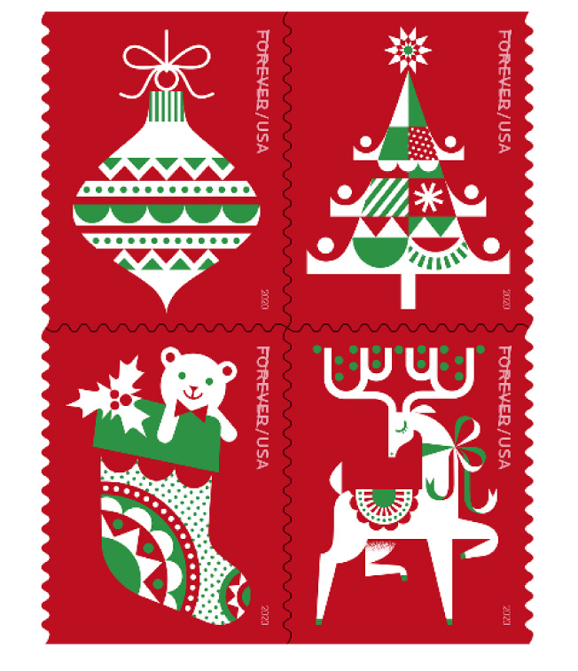 usps holiday delights forever stamps 1