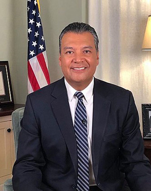 Alex Padilla senator official portrait