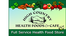 'Click' here to visit 'High Country Health Foods & Cafe' website